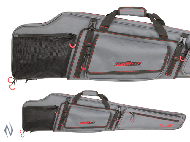 "ALLEN GEAR FIT DAKOTA RIFLE CASE GREY / RED 48"" Image"