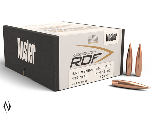 NOSLER RDF 6.5MM 130GR HPBT 100PK Image