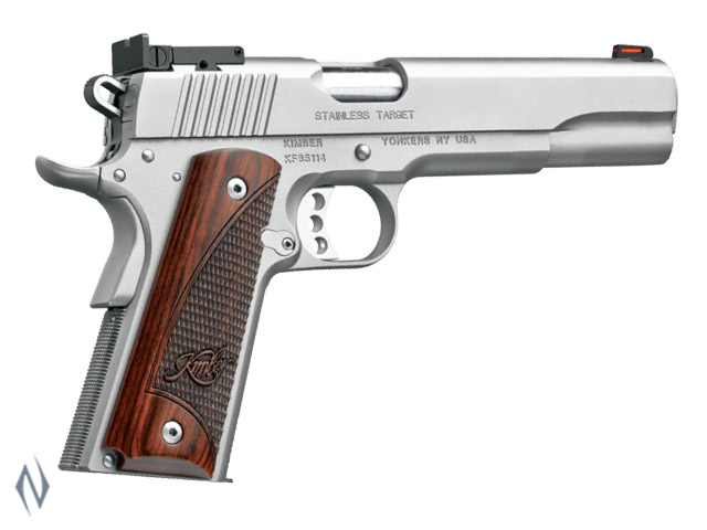 KIMBER 1911 STAINLESS TARGET LONG SLIDE 45ACP 152MM Image