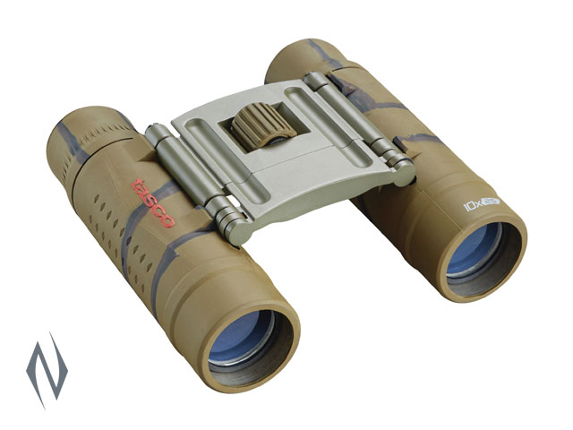 TASCO ESSENTIALS 10X25 ROOF BROWN CAMO BINOCULAR Image