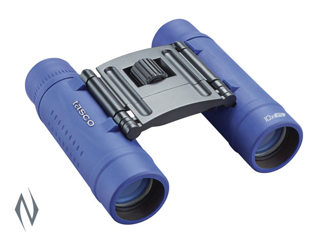 TASCO ESSENTIALS 10X25 ROOF BLUE BINOCULAR Image