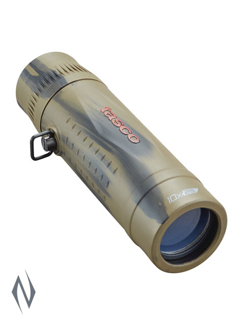 TASCO ESSENTIALS 10X25 ROOF BROWN CAMO MONOCULAR Image