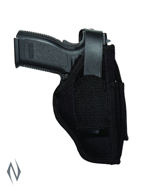 UNCLE MIKES AMBIDEXTROUS SIDEKICK HOLSTER BLACK SIZE 15 + MAG POUCH Image