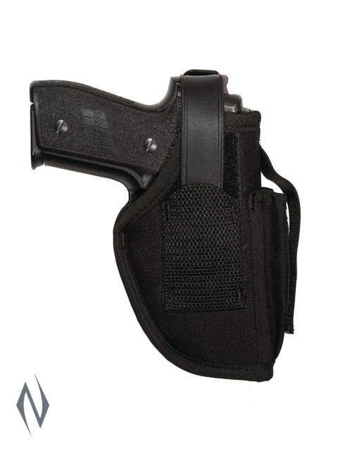 UNCLE MIKES AMBIDEXTROUS SIDEKICK HOLSTER BLACK SIZE 16 + MAG POUCH Image