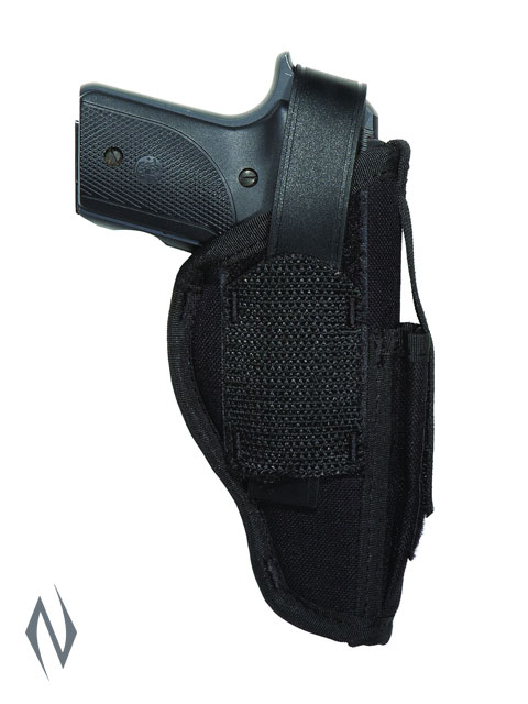 UNCLE MIKES AMBIDEXTROUS SIDEKICK HOLSTER BLACK SIZE 1 + MAG POUCH Image