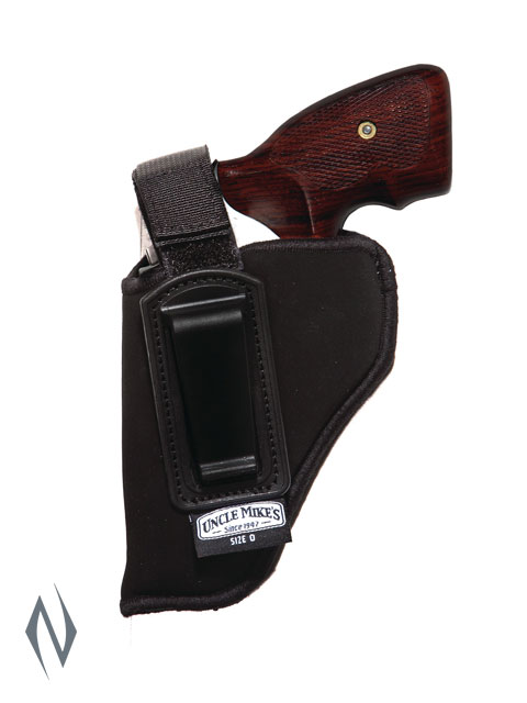 UNCLE MIKES INSIDE THE PANTS HOLSTER BLACK SIZE 0 LH Image