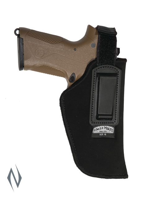 UNCLE MIKES INSIDE THE PANTS HOLSTER BLACK SIZE 15 RH Image
