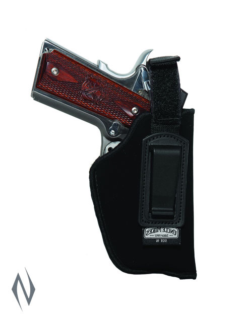 UNCLE MIKES INSIDE THE PANTS HOLSTER BLACK SIZE 16 LH Image
