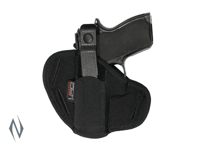 UNCLE MIKES SUPER BELT SLIDE HOLSTER BLACK SIZE 16 AMBI Image