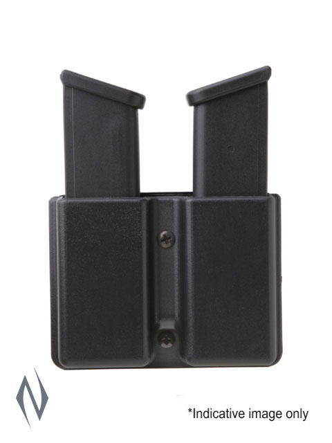 UNCLE MIKES KYDEX HOLDER DOUBLE MAGAZINE SINGLE STACK BELT Image