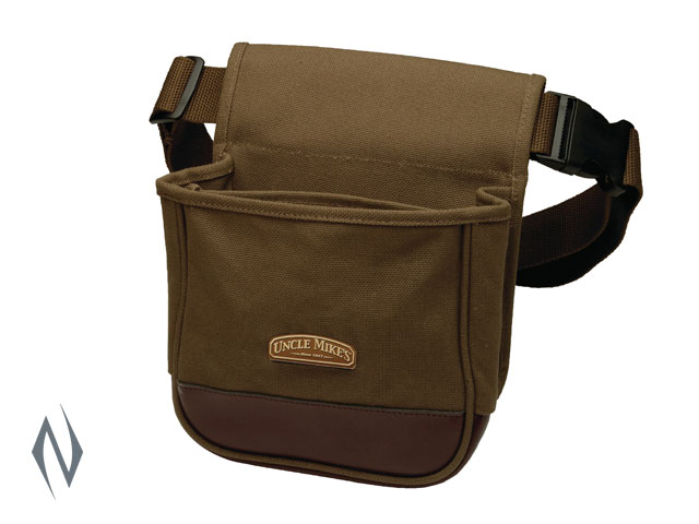 UNCLE MIKES DELUXE SHOT SHELL POUCH CANVAS BROWN Image