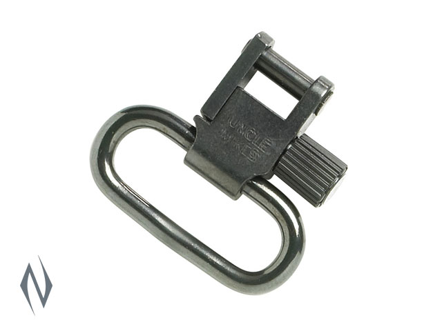 "UNCLE MIKES SWIVELS NON TRI- LOCK BLUED 1"" NO STUD Image"