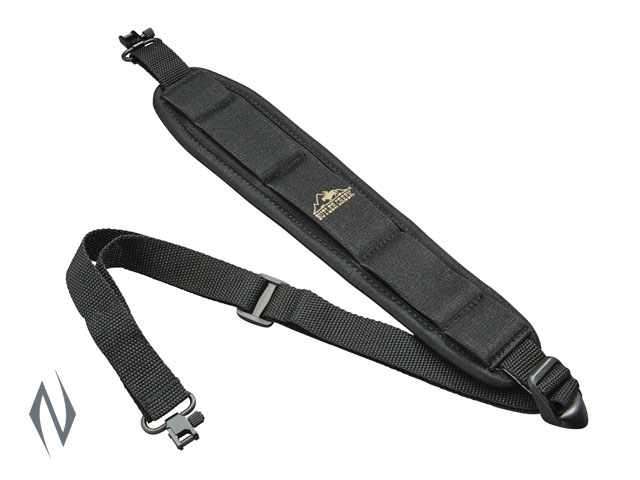 BUTLER CREEK COMFORT STRETCH BLACK RIFLE SLING + SWIVELS Image