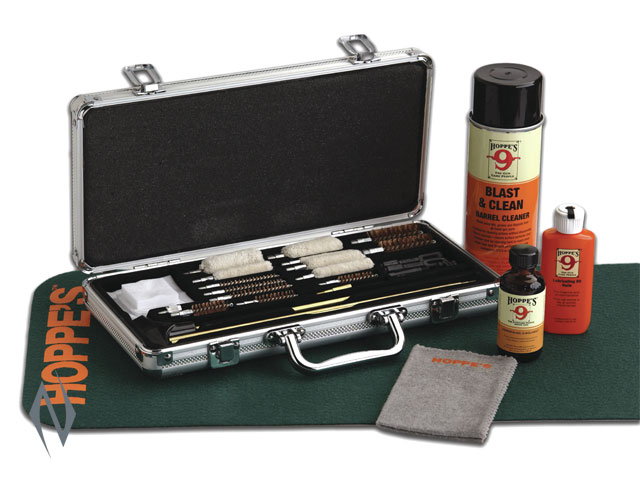 HOPPES DELUXE UNIVERSAL CLEANING KIT IN ALUMINIUM CASE Image