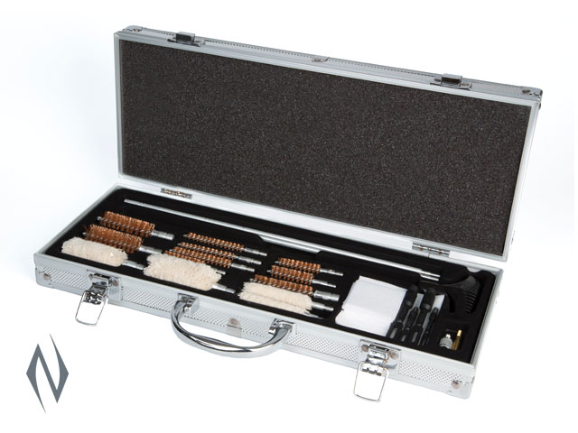 HOPPES UNIVERSAL GUN CLEANING ACCESSORY KIT IN ALUMINIUM CASE Image