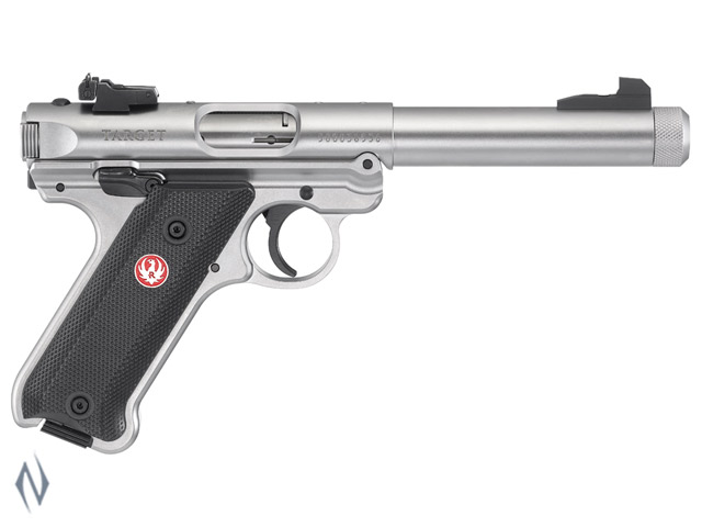 RUGER MKIV 22LR TARGET THREADED STAINLESS 140MM Image