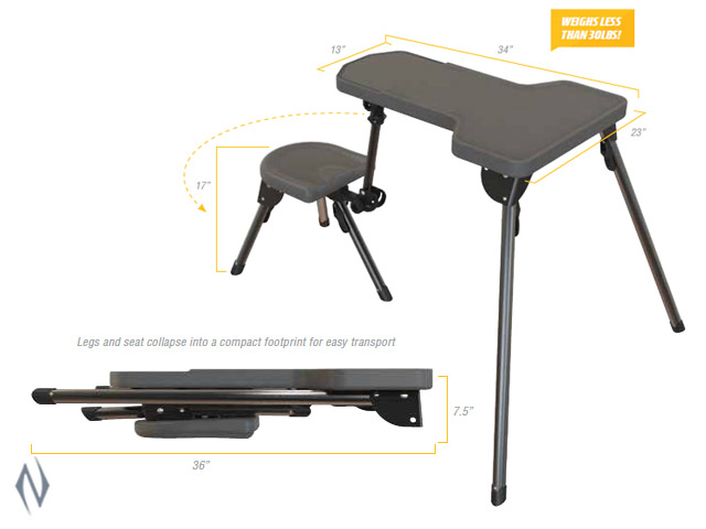 CALDWELL STABLE TABLE LITE SHOOTING BENCH Image