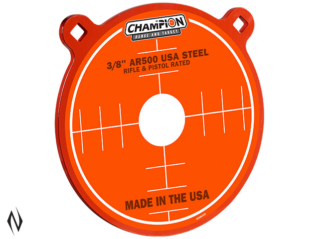 "CHAMPION AR500 CENTREFIRE RIFLE STEEL TARGET 3/8"" GONG 10"" Image"