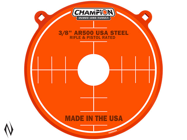 "CHAMPION AR500 CENTREFIRE RIFLE STEEL TARGET 3/8"" GONG 15"" Image"