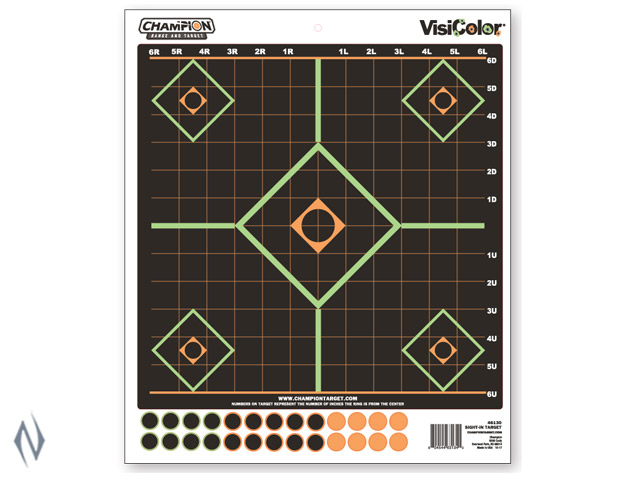 CHAMPION TARGET VISICOLOR ADHESIVE SIGHT IN 5 PACK + PATCHES Image
