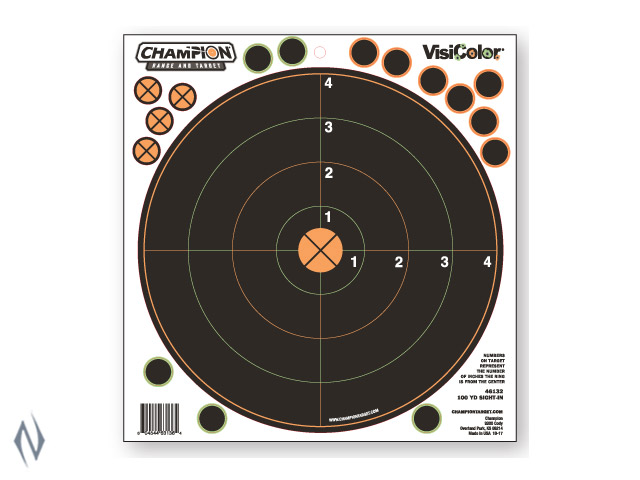 CHAMPION TARGET VISICOLOR ADHESIVE SIGHT IN 100YD 5 PACK + PATCHES Image