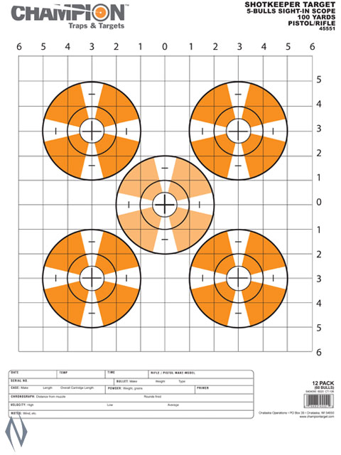 CHAMPION TARGET SHOTKEEPER SIGHT IN SC LARGE 12 PACK Image