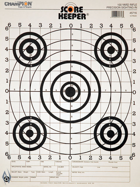 CHAMPION TARGET 100YD RIFLE SIGHT IN B/B -12 PACK Image