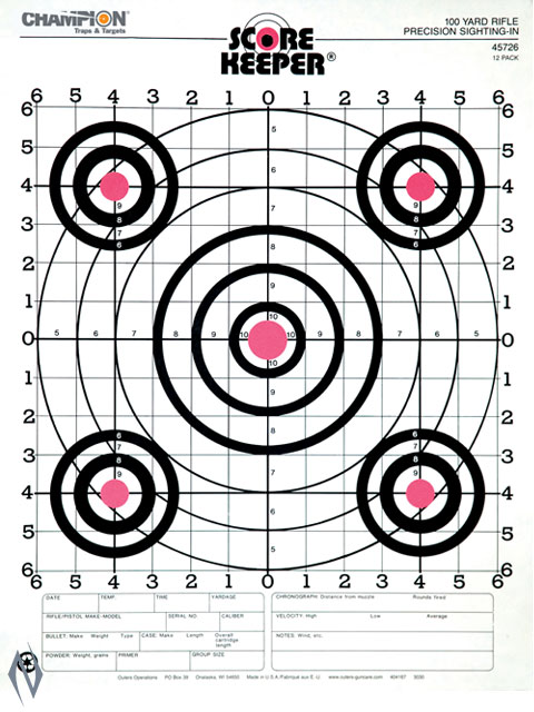 CHAMPION TARGET 100YD RIFLE SIGHT IN O/B-12 PACK Image