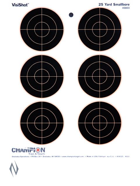 """CHAMPION TARGET VISISHOT 6-3"""" BULLS EYE 10 PACK 8.5""""X11"""" Image"""