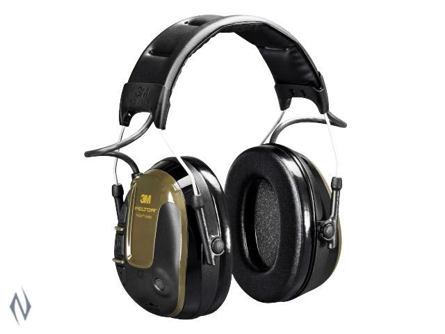 PELTOR PROTAC HUNTER GREEN ELECTRONIC EAR MUFFS 26DB Image
