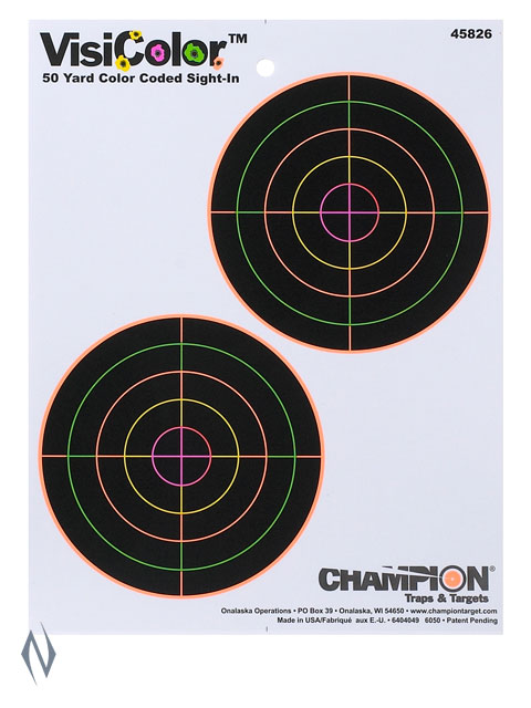 "CHAMPION TARGET VISICOLOR 5"" DOUBLE BULL Image"
