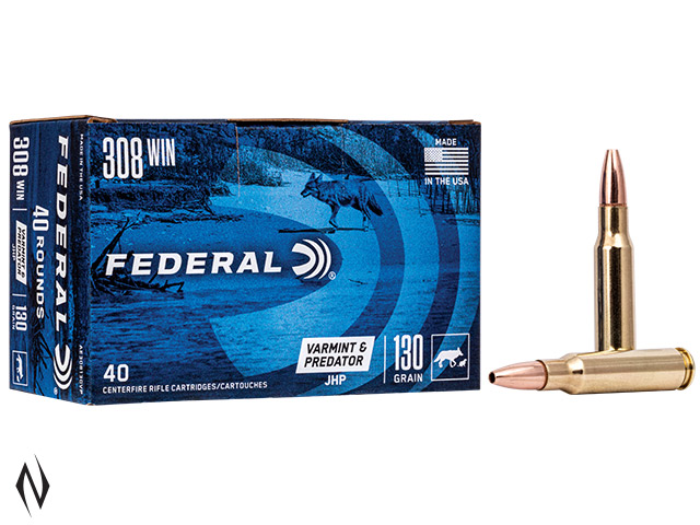 FEDERAL 308 WIN 130GR HP AE VARMINT 40 PK Image
