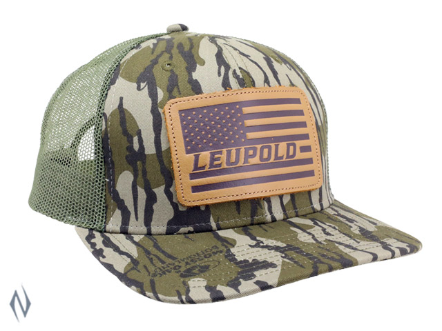 LEUPOLD BOTTOMLAND FLAG PATCH TRUCKER CAP OS Image