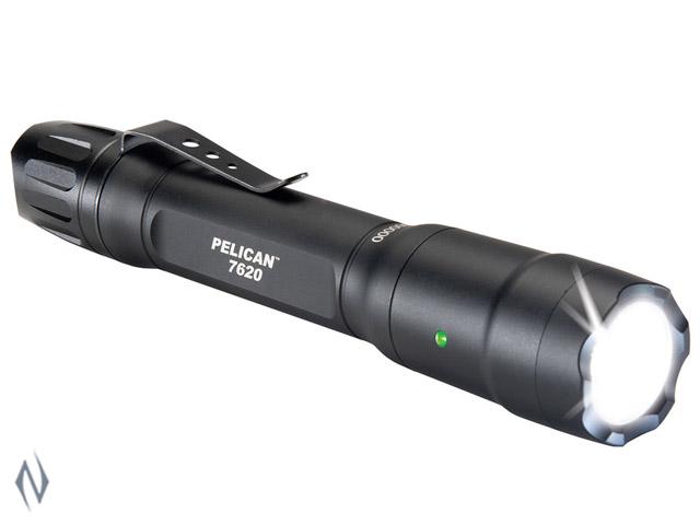PELICAN TORCH 7620 LED BLACK 1124 LUM 3 X CR123 / 2 X AA Image