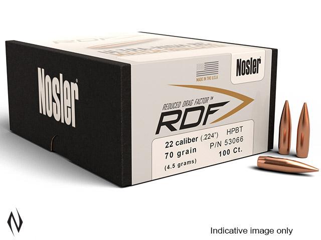 NOSLER RDF 224 77GR HPBT 100PK Image