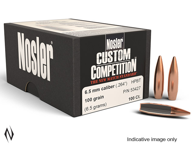 NOSLER 6.5MM 100GR HPBT CUSTOM COMP 250PK Image