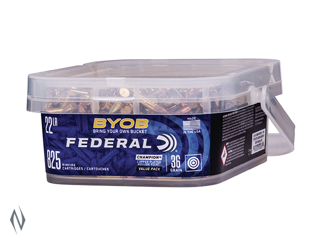 FEDERAL 22LR 36GR HP HV 825 RND BUCKET Image