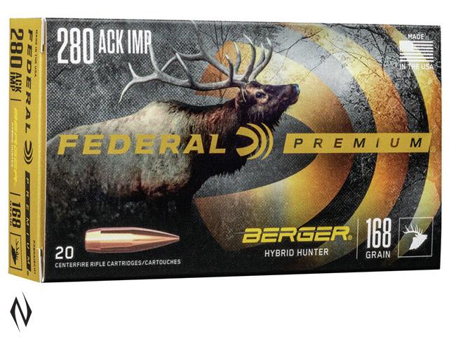 FEDERAL 280 ACKLEY 168GR BERGER HUNTER Image