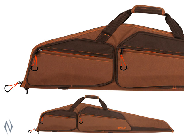 "ALLEN LINCOLN RIFLE CASE + POCKET CAMEL BROWN 46"" Image"