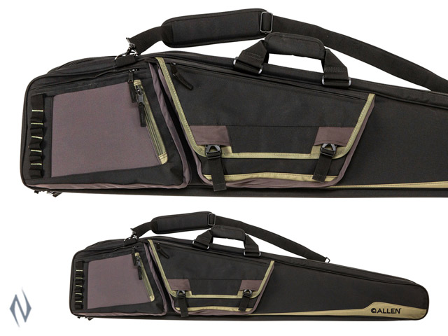 "ALLEN ROCKY DOUBLE RIFLE CASE BLACK / TAN 50"" Image"