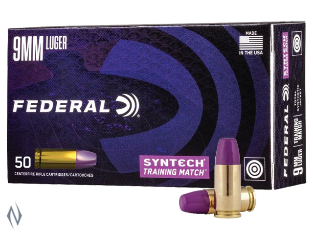 FEDERAL 9MM LUGER 124GR TSJ FN SYNTECH TRAINING MATCH Image
