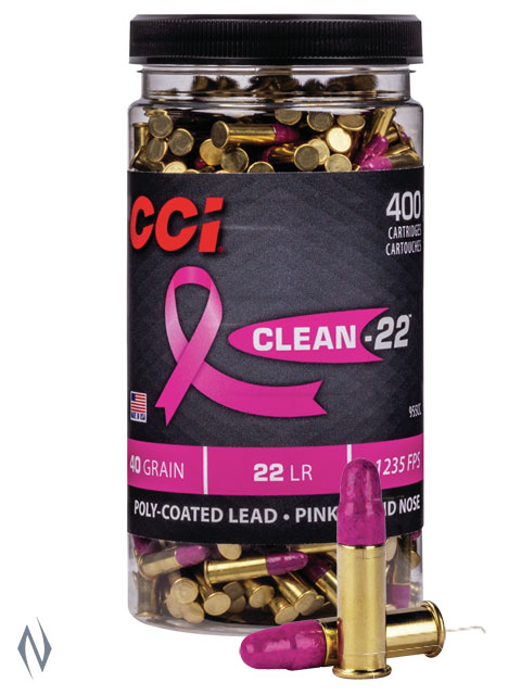 CCI 22LR CLEAN-22 PINK 40GR HV 400 RND BOTTLE 1235FPS Image