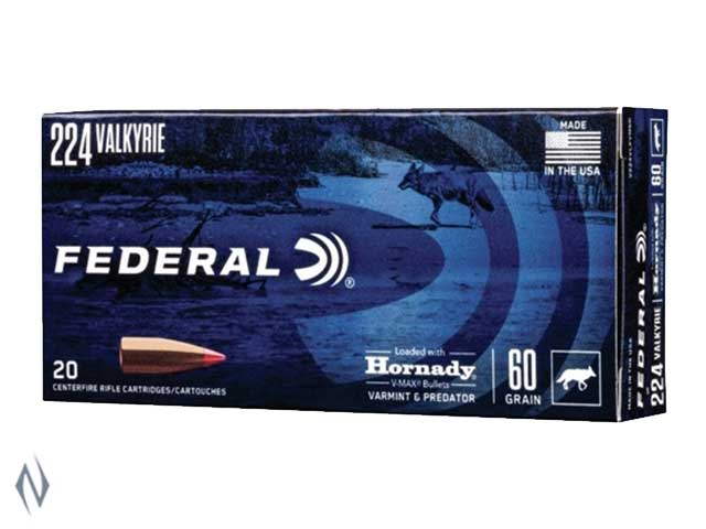 FEDERAL 224 VALKYRIE 60GR VMAX 20PK Image