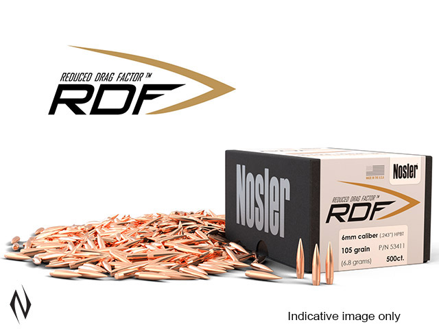 NOSLER RDF 243 115GR HPBT 500PK Image
