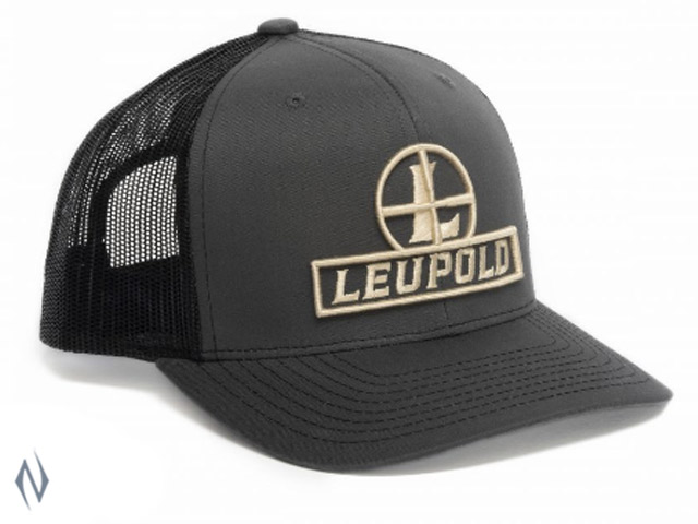 LEUPOLD RETICLE TRUCKER CAP FLAT BILL GREY Image