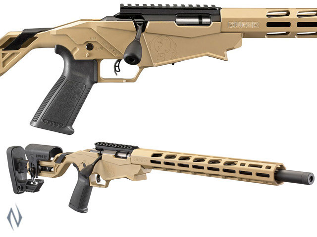 """NSW RUGER PRECISION RIMFIRE RIFLE 22LR 18"""" 10 SHOT FLAT DARK EARTH PINNED Image"""