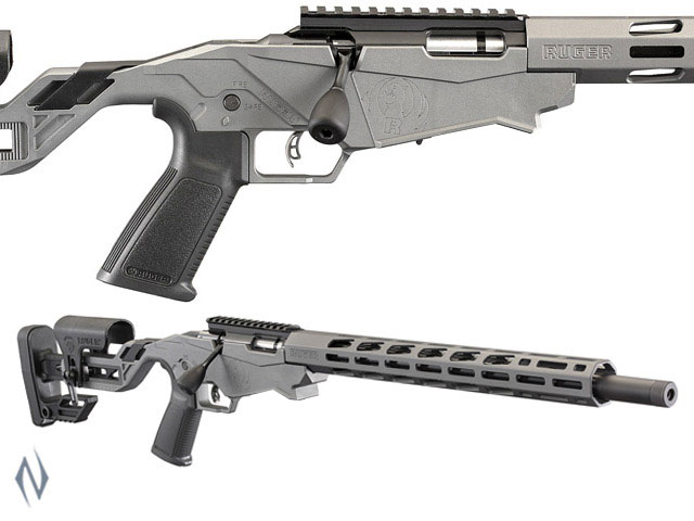 "NSW RUGER PRECISION RIMFIRE RIFLE 22LR 18"" 10 SHOT TACTICAL GREY PINNED Image"