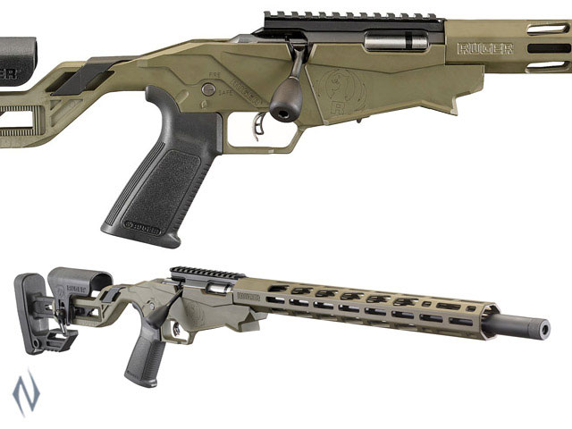 """NSW RUGER PRECISION RIMFIRE RIFLE 22LR 18"""" 10 SHOT OD GREEN PINNED Image"""
