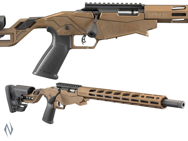 """NSW RUGER PRECISION RIMFIRE RIFLE 22WMR 18"""" 9 SHOT BURNT BRONZE PINNED Image"""