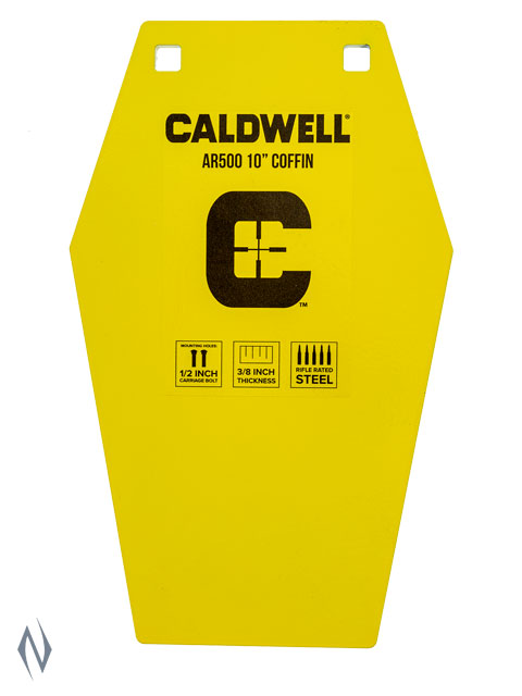 """CALDWELL AR500 TARGET 10"""" COFFIN Image"""